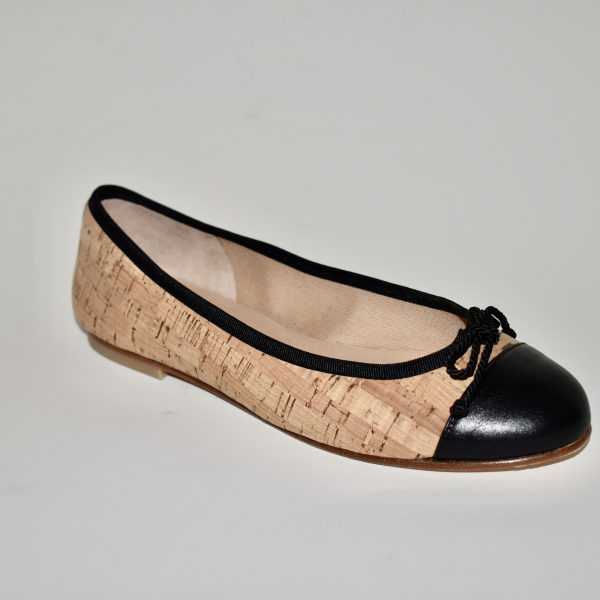 French Sole Vanity Women's Shoe Ballet Flat Cork Body with Leather Trim | Ooh! Ooh! Shoes Women's Shoes and Clothing Boutique Naples, Charleston and Mashpee