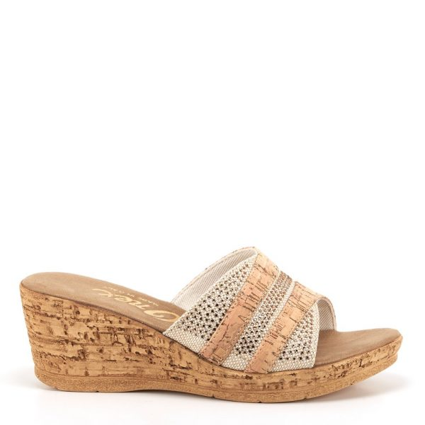 Onex Blanche Cork Wedge | Ooh! Ooh! Shoes women's clothing & shoe boutique naples, charleston and mashpee