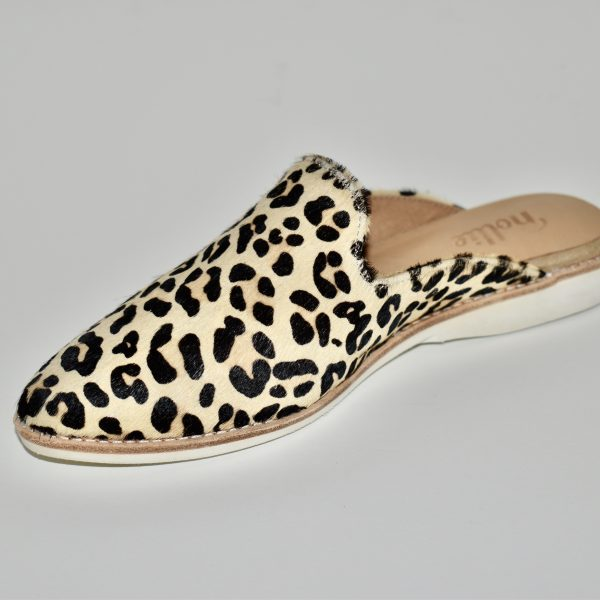 Rollie Madison Mule Women's Shoe Premium Leather Shoe with Comfortable Memory Foam in Leopard | Ooh! Shoes Women's Shoes and Clothing Boutique Naples, Charleston and Mashpee