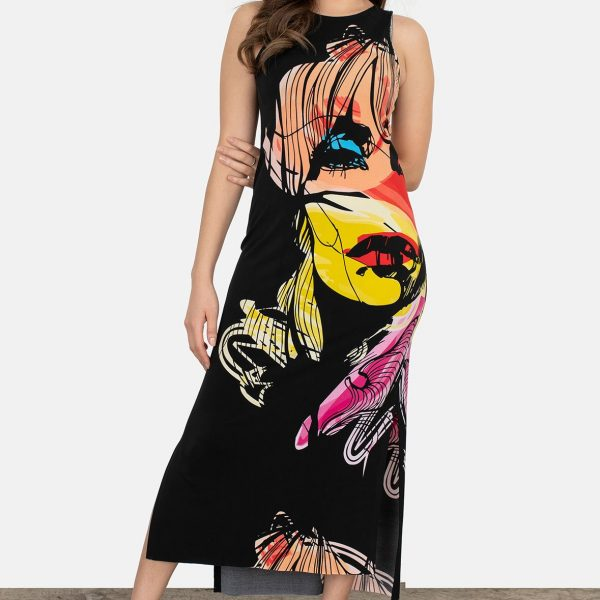 Eva Varro D12867 Sleeveless Maxi Dress| Ooh Ooh Shoes women's clothing and shoe boutique naples, charleston and mashpee