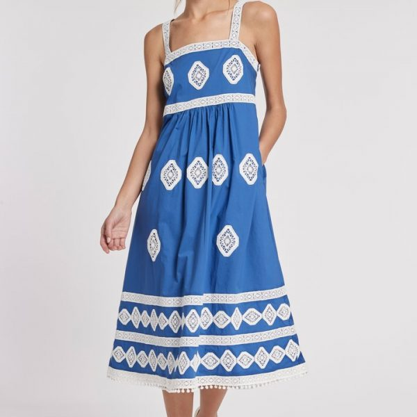 Tyler Boe Candie Embroidered Midi Dress| Ooh Ooh Shoes woman's clothing & shoe boutique naples, charleston and mashpee
