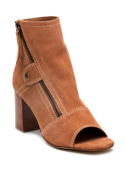 Matisse Lyon Bootie Women's Bootie Open Toe, Suede Leather and 6in ankle high shaft with cushioned foot bed | Ooh! Shoes Women's Shoes and Clothing Boutique Naples, Charleston and Mashpee