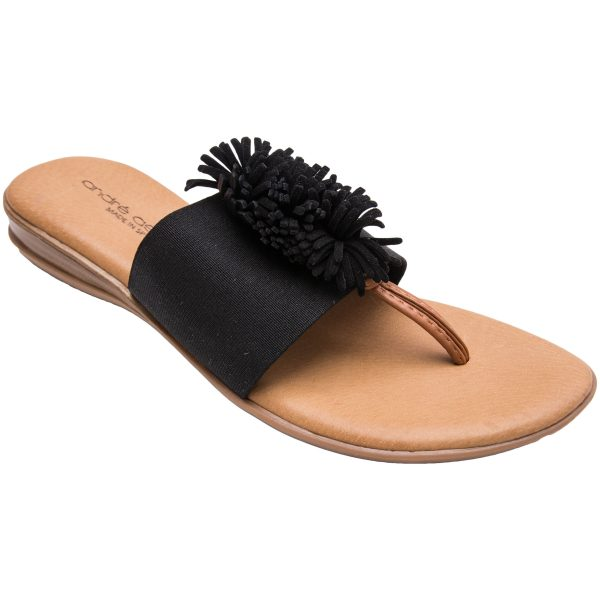 Andre Assous Novalee Woman's Sandal with Fringe Detail| Ooh! Ooh! Shoes woman's clothing and shoe boutique naples, charleston and mashpee.