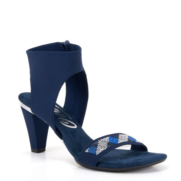 Onex saphire elastic upper rhinestone detail. Zipper closure on instep| Ooh! Ooh! Shoes woman's clothing & shoe boutique naples, charleston and mashpee