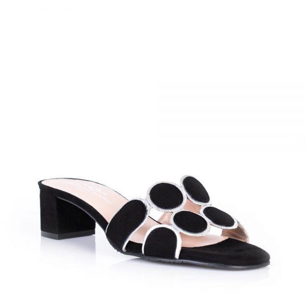 Brenda Zaro T3113 Black Suede Sandal| Ooh Ooh Shoes woman's clothing & shoe boutique naples, charleston and mashpee