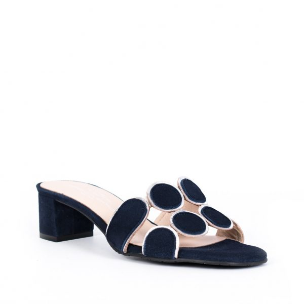 Brenda Zaro T3113 Navy Suede Sandal| Ooh Ooh Shoes woman's clothing & shoe boutique naples, charleston and mashpee