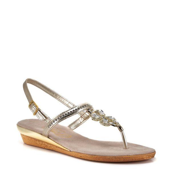 Onex Taylor jeweled thong style flat sandal | Ooh! Ooh! Shoes women's clothing & shoe boutique naples, charleston and mashpee