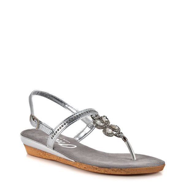 Onex Taylor Jeweled Thong Style Flat Sandal | Ooh! Ooh! Shoes women's clothing & shoe boutique naples, charleston and mashpee