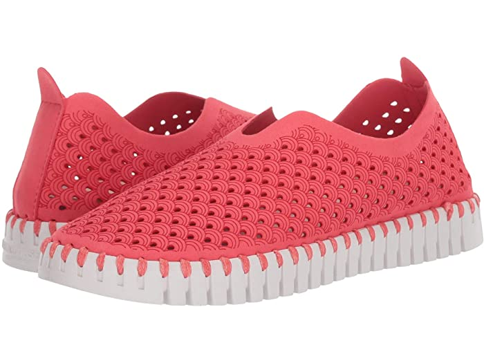 Ilse Jacobsen Tulip Women's Sneaker in Fuchsia with Flexible Rubber Bottom | Ooh! Ooh! Shoes Women's Shoes and Clothing Boutique Naples, Charleston and Mashpee