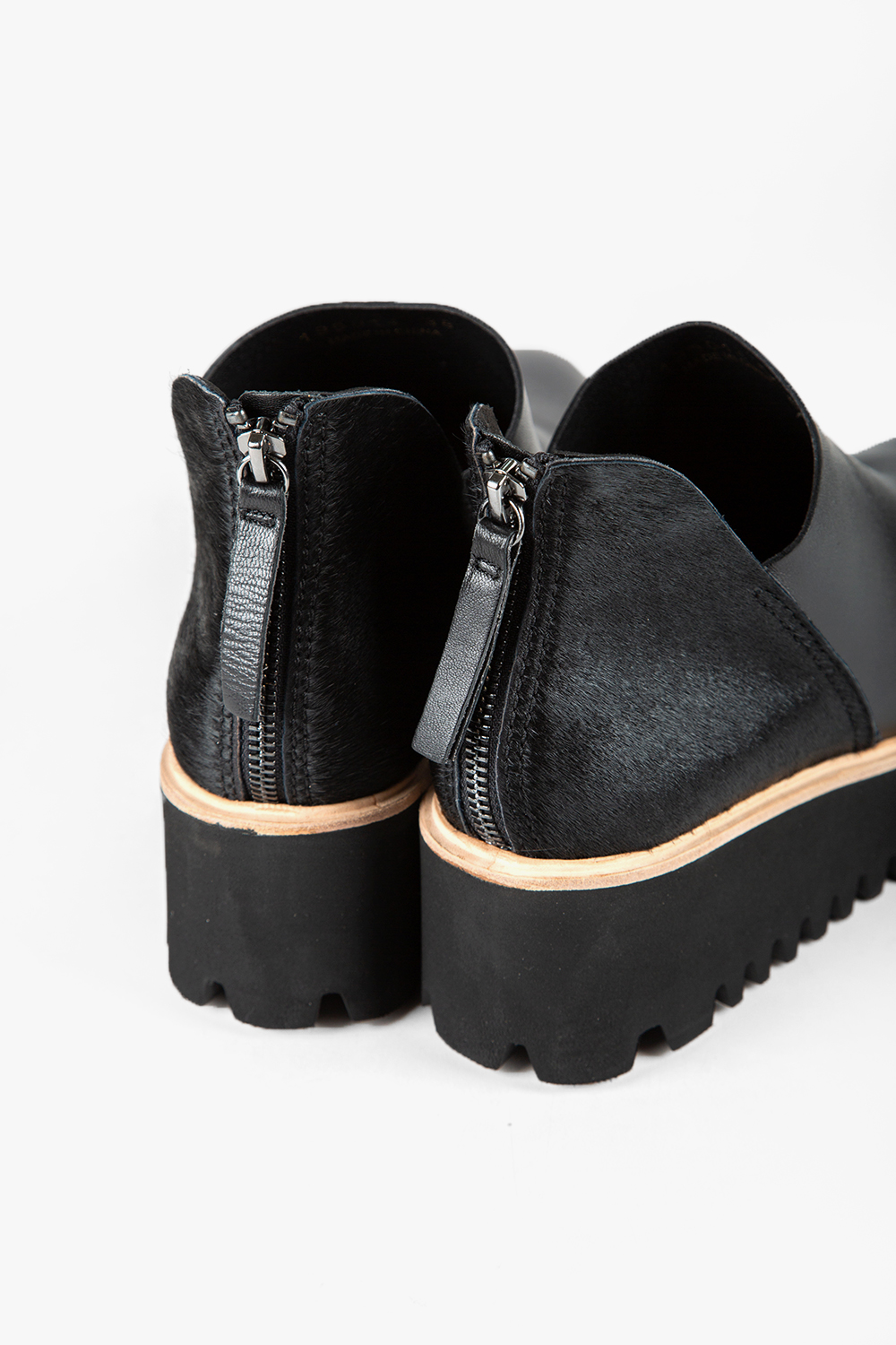 All Black Flatform Boot Women's Boot Nubuck Leather and Pony Hair Back | Ooh! Ooh! Shoes Women's Shoes and Clothing Boutique Naples, Charleston and Mashpee