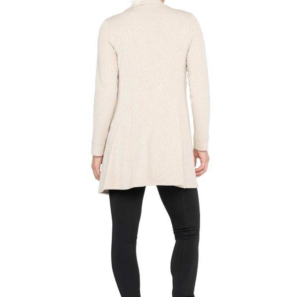 Eva Varro J12901 Long Barcelona Jacket with zipper detail| Ooh Ooh Shoes women's clothing and shoe boutique naples, charleston and mashpee