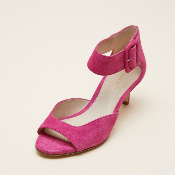 Pelle Moda Berlin Women's Shoe with Kitten Heels and Oversize Buckle | Ooh! Ooh! Shoes Women's Shoes and Clothing Boutique Naples, Charleston and Mashpee