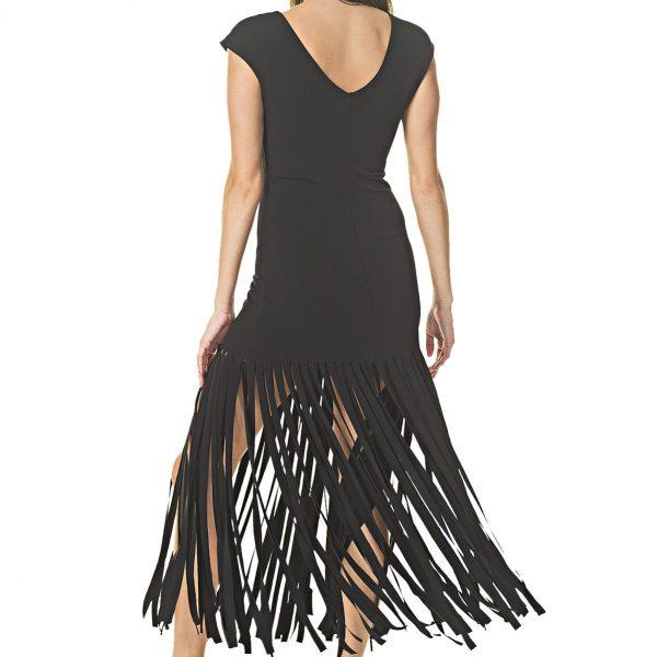 Eva Varro D12751 Fringe Bottom Dress| Ooh Ooh Shoes women's clothing and shoe boutique naples, charleston and mashpee