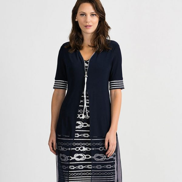 Joseph Ribkoff 201365 Zipper Dress | Ooh! Ooh! Shoes Women's Shoes and Clothing Boutique Naples, Charleston and Mashpee