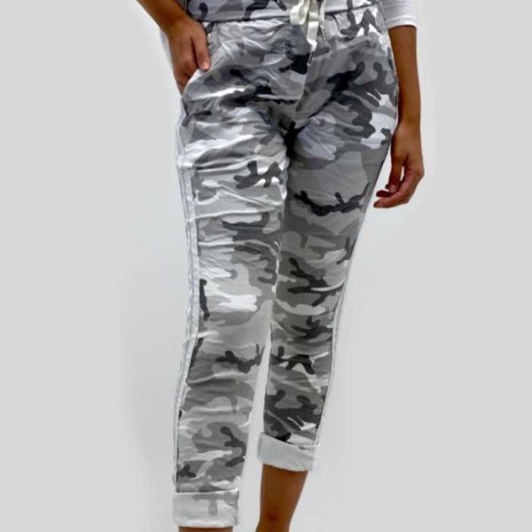 Look Mode 6701 Military Pants with Waist Tie | Ooh! Ooh! Shoes Women's Shoes and Clothing Boutique Naples, Charleston and Mashpee
