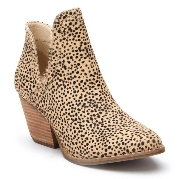 Matisse Trader Boot Women's Bootie Beige and Black Dots | Ooh! Ooh! Shoes Women's Shoes and Clothing Boutique Naples, Charleston and Mashpee