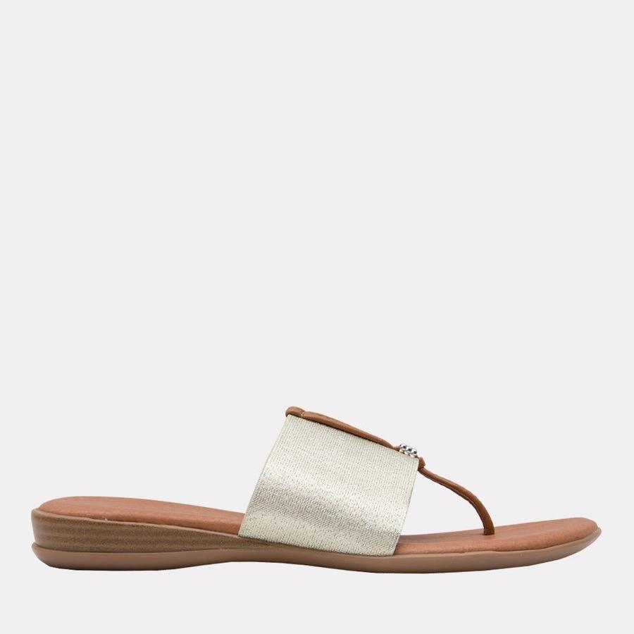 Andre Assous Nice Women's Sandal Thong Style, Leather Foot Bed in Platino   Ooh! Shoes Women's Shoes and Clothing Boutique Naples, Charleston and Mashpee
