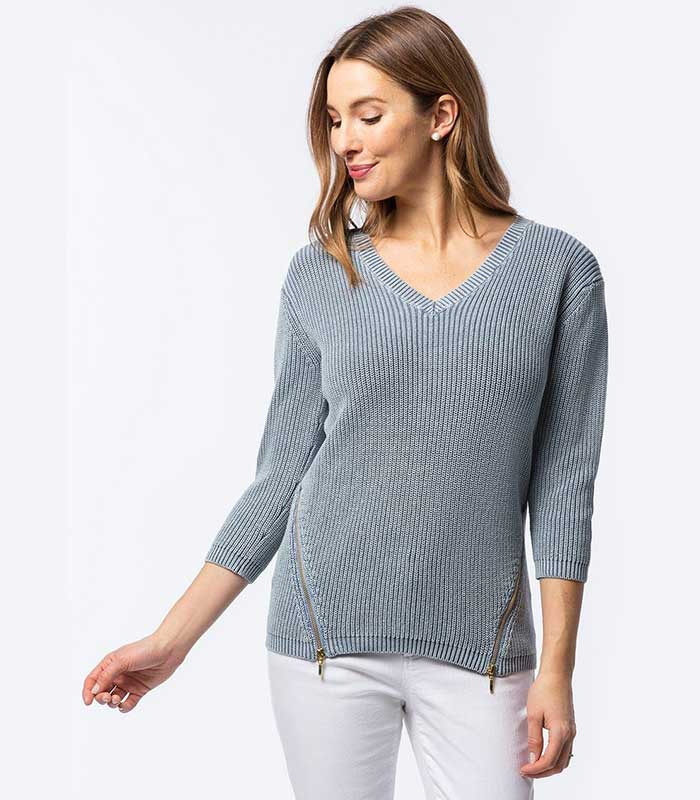 Tyler Boe 23078M V-Neck Sweater | Ooh! Ooh! Shoes Women's Shoes and Clothing Boutique Naples, Charleston and Mashpee